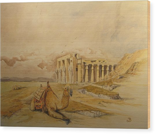 The Ramesseum Theban Necropolis Egypt Wood Print