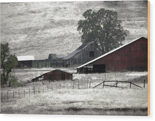 The Ranch View Wood Print