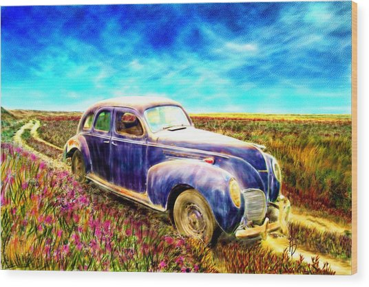 The Rare And Elusive Lincoln Zephyr Wood Print