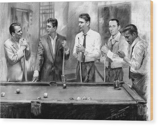 The Rat Pack Wood Print
