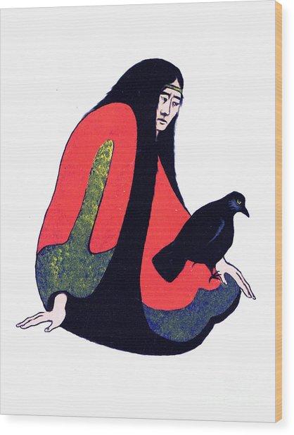The Raven Ap/2 Wood Print