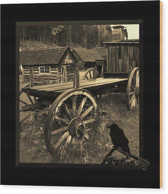 The Raven Flies Straight Wood Print