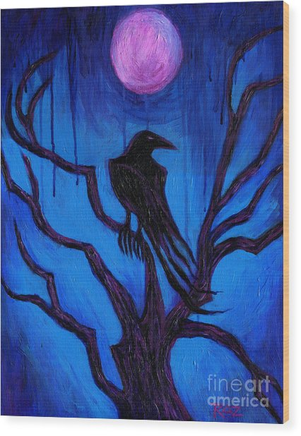 The Raven Nevermore Wood Print