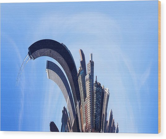 The Real Windy City - Chicago Wood Print by James Hammen