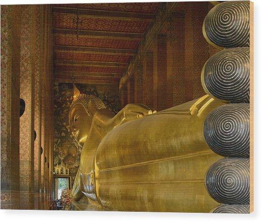 The Reclining Buddha Wood Print
