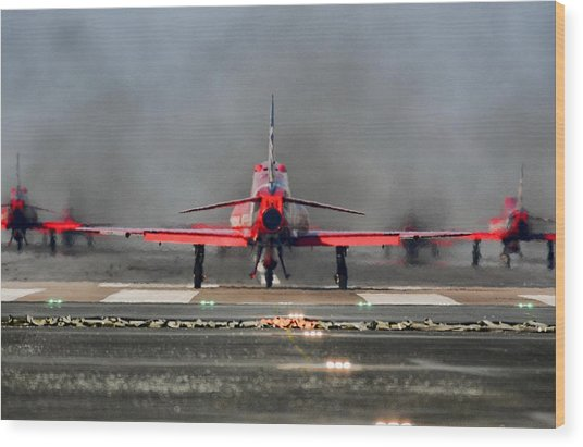 The Red Arrows Wood Print by James Lucas
