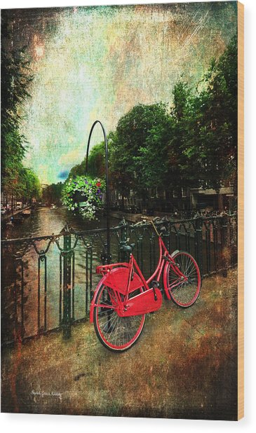 The Red Bicycle Wood Print