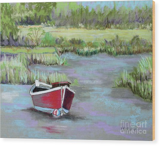 The Red Boat Chronicle  Wood Print