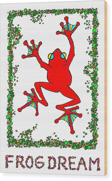 The  Red  Frog   Wood Print by Hartmut Jager