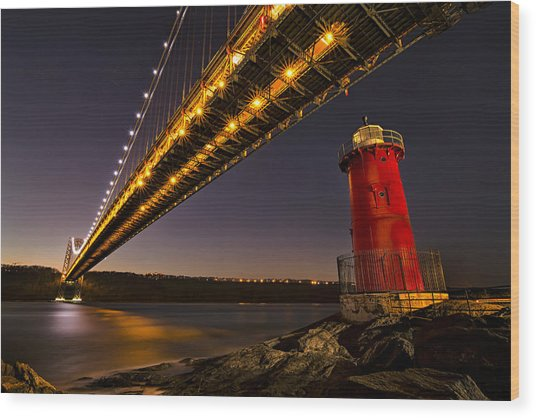 The Red Little Lighthouse Wood Print