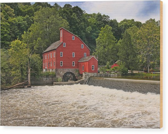 The Red Mill The Day After Irene Wood Print