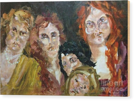 The Redheaded Step Child Wood Print by Michelle Dommer