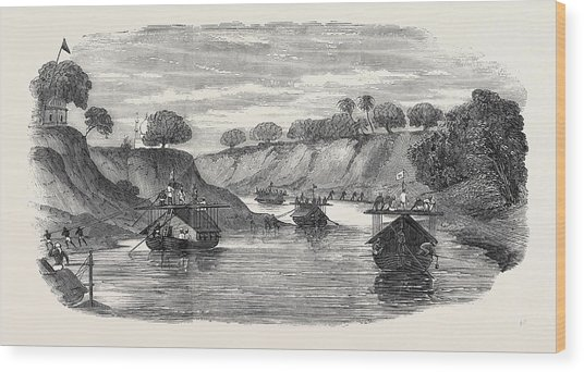 The Regiment Of Loodianah Gordons Sikhs On Their Voyage Wood Print
