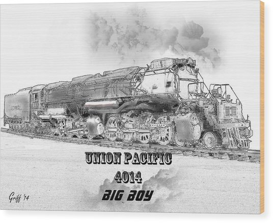 The Resurrection Of Big Boy 4014 Wood Print