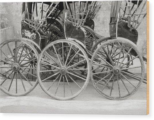 The Rickshaws Wood Print