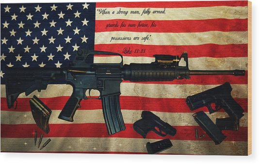 The Right To Bear Arms Wood Print
