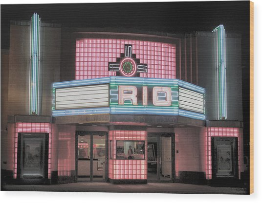 The Rio At Night Wood Print