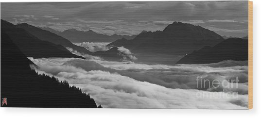 The River Of Clouds Wood Print by Marco Affini
