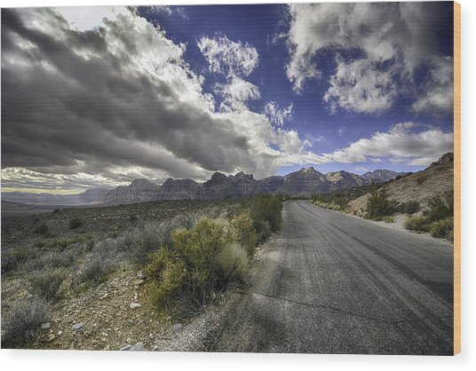 The Road To Red Rock Wood Print