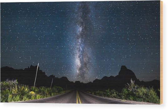 The Road To The Chisos Wood Print