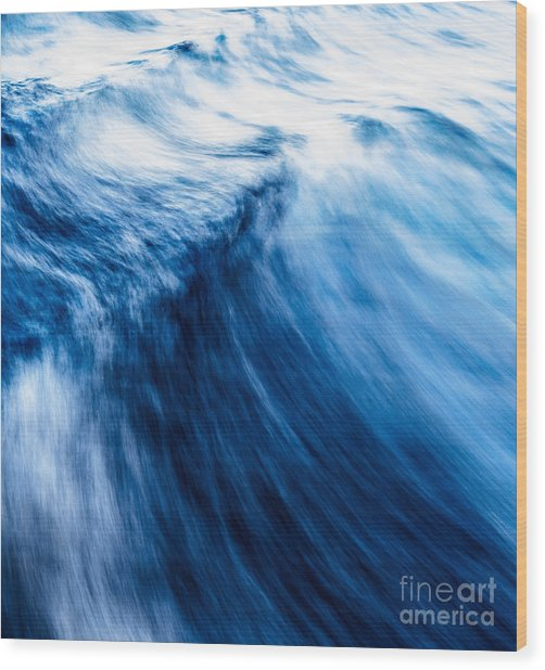 The Roar Of The Sea Wood Print