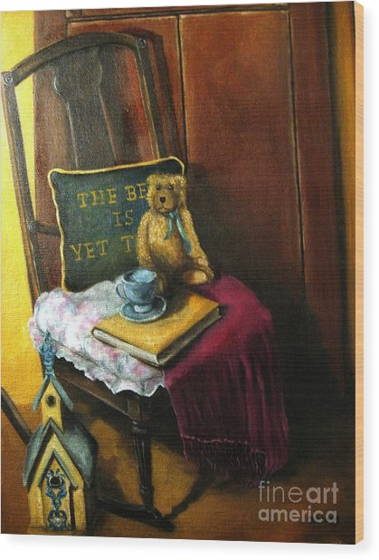 The Rocking Chair Wood Print by Patricia Lang