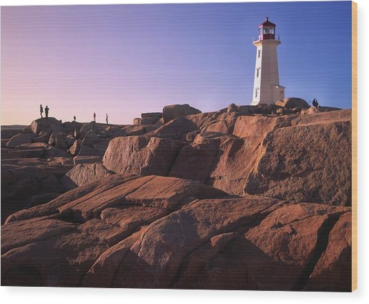 The Rocks At Peggy's Cove Wood Print