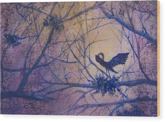 The Rookery Revisited Wood Print