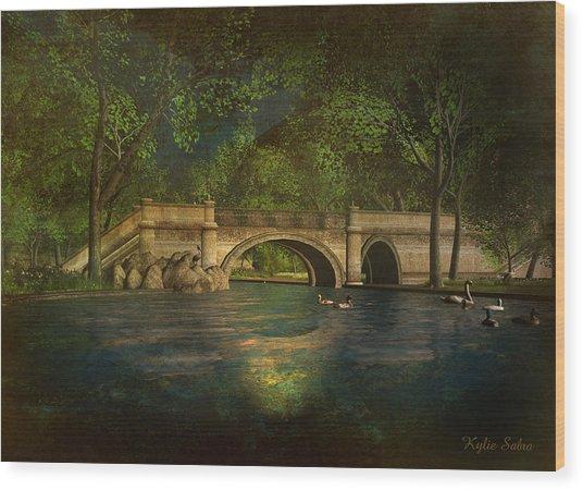 The Rose Pond Bridge 06301302 - By Kylie Sabra Wood Print