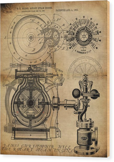 The Rotary Engine Wood Print