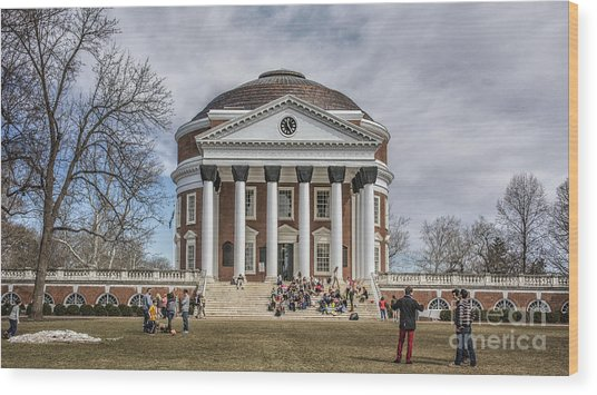 The University Of Virginia Rotunda Wood Print