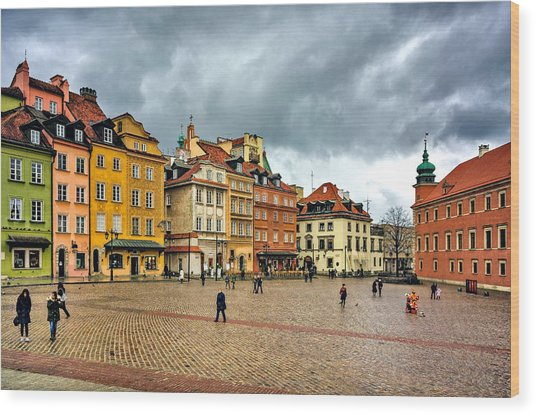 The Royal Castle Square Wood Print
