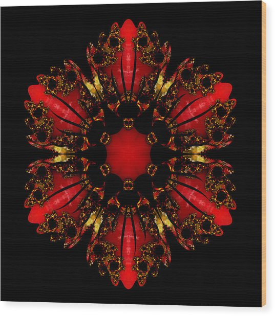 The Ruby Flame Broach Wood Print