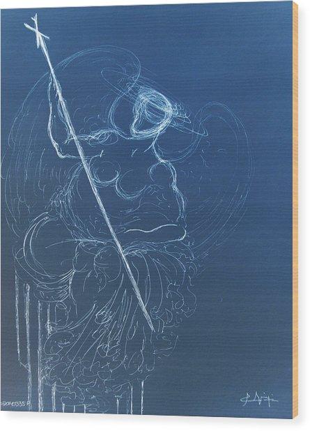The Sacred Feminine  Wood Print