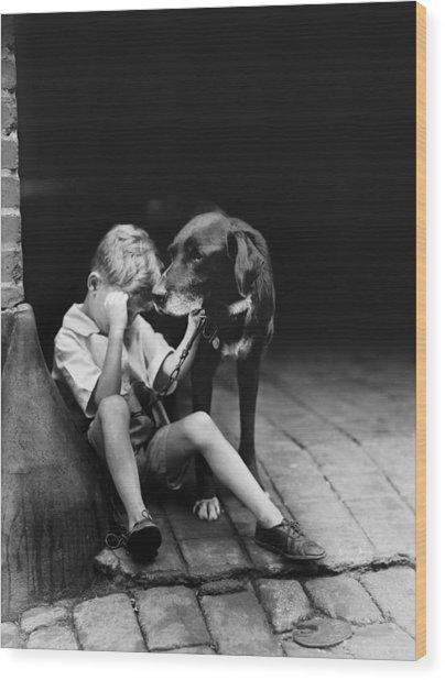 The Sad Boy Circa 1921 Wood Print