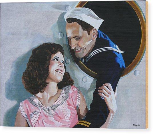The Sailor's Return - Clara Bow Wood Print by Jo King