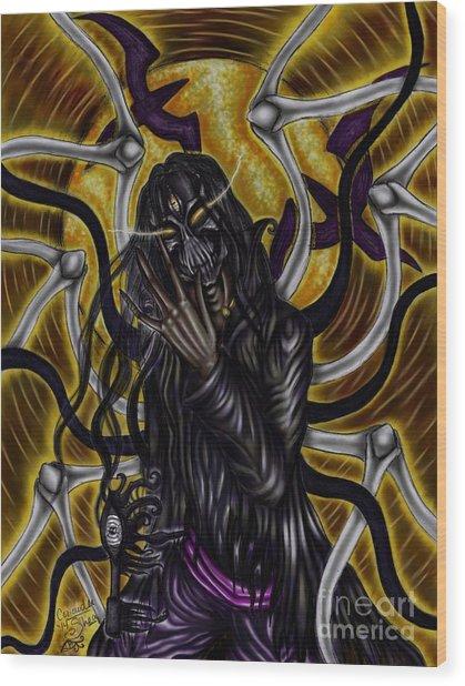 The Samhain King Wood Print by Coriander  Shea