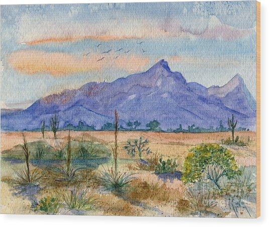 The San Tans Wood Print