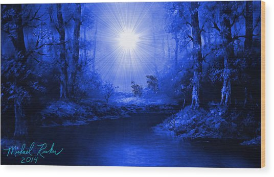 The Sapphire Forest Wood Print