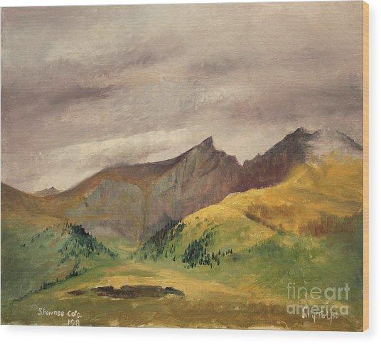 The Sawtooth - Colorado  Wood Print
