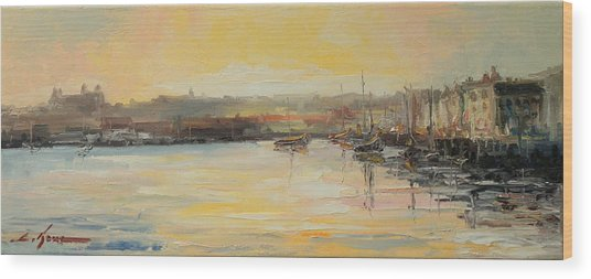 The Scarborough Harbour Wood Print