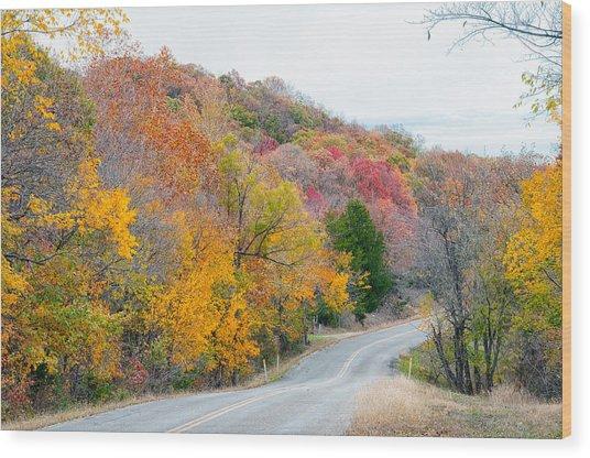 The Scenic Drive Wood Print