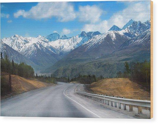 The Scenic Glenn Highway  Wood Print