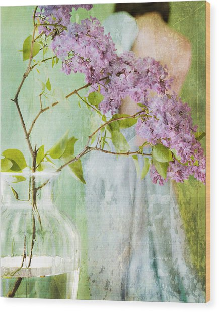 The Scent Of Lilacs Wood Print