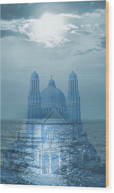 The Sea Church Wood Print