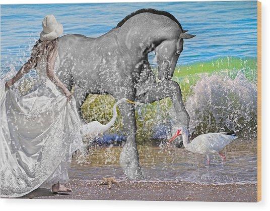 The Sea Horse Wood Print