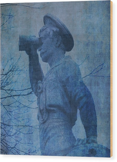 The Seaman In Blue Wood Print