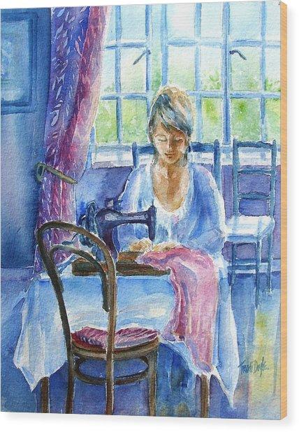 The Seamstress Wood Print
