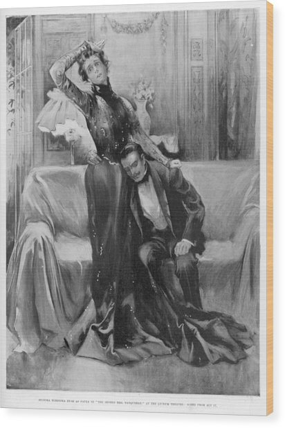 The Second Mrs Tanqueray, Eleonora Duse Wood Print by  Illustrated London News Ltd/Mar