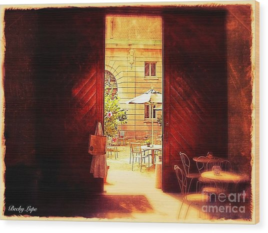 The Secret Courtyard  Wood Print